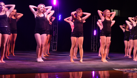 CLAIMING GOLD Kappa Delta sorority (above) wins first place at Lip Sync for their Katy Perry-themed number.