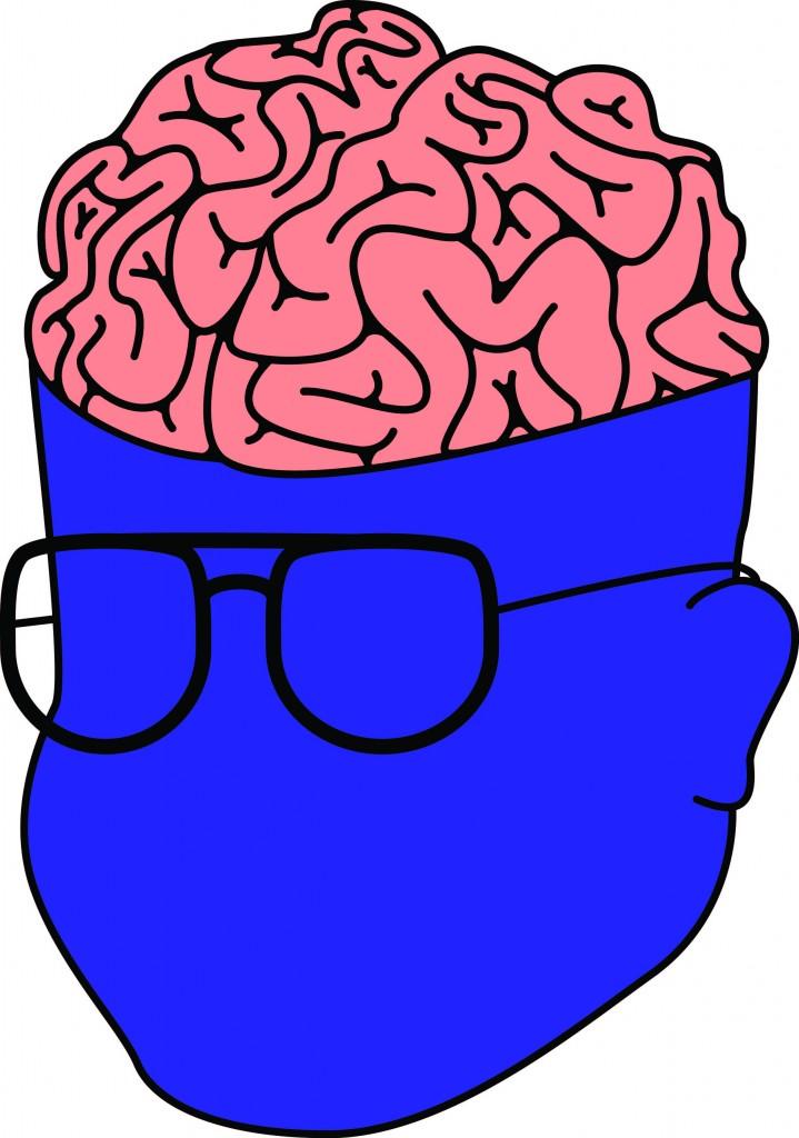 Brain Graphic - Purple