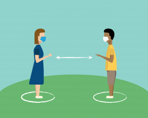 Social Distance Graphic